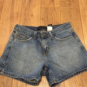 Calvin Klein Distressed Shorts With Slit Sides
